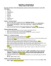 Anatomy  Physiology B Final Exam Study Guide 20102011 (1)