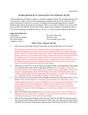 Reading Questions for Sir Gawain and the Green Knight Parts 1 & 2.doc