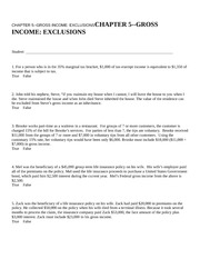 CHAPTER 5--GROSS INCOME EXC