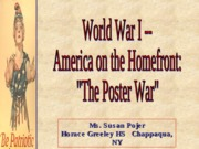 WW1 through Posters and Cartoons