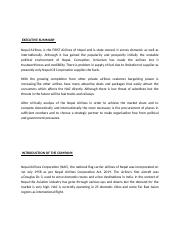 Marketing Case-Nepal Airlines.docx
