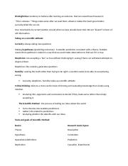 Psychology Notes ch.1 and 2