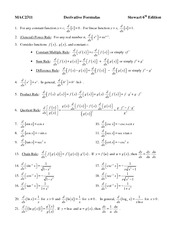 2311_Derivative_Formulas_and_Trig_Idents_Formula_Sheet_F11