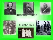 Chapter 15 - Reconstruction-1