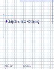 Chapter 9 Text Processing