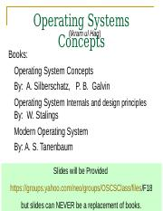 Os Slide 001 Ppt Operating Systems Ikram Ul Haq Concepts Books