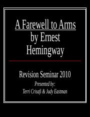 A Farewell to Arms by Ernest Hemingway.ppt