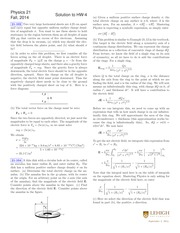PHYS 21 Fall 2014 Homework 4 Solutions