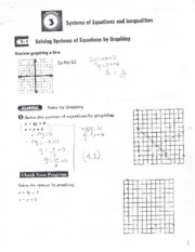 3.1 equations by graphing