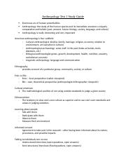 Anthropology Test 1 Study Guide.docx