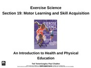 4.2 Motor Learning & Skill Acquistion