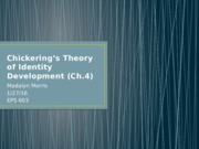 Chickering's Theory of Identity Development (Ch.pptx