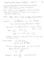 ECE 2074 Properties of Laplace Transforms Lecture Notes