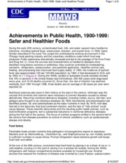 Great Achievements - Safer _ Healthier Foods (Lecture 9-10)