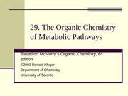 Chapter29 The Organic Chemistry of Metabolic Pathways