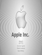 Apple PPT - Group 3