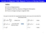 L13 Magnetic field Magnetic force on charges