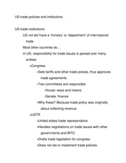 US trade policies and institutions