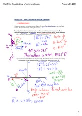 Unit 1 Application of Vectors