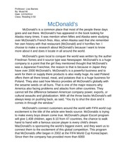 McDonald business