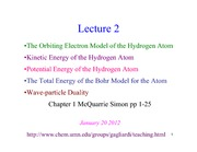 CHEM 4502 - Lecture Overhead 2 - 2012