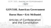 Articles of Confederation  and the Constitution lecture 2