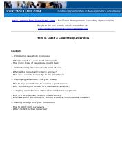 Topconsultant_How to Crack a Case Study Interview.pdf