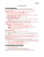 Exam Two Review Sheet Fall 2016.docx