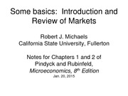 Lecture CH 1-2 - Introduction and Review of Markets