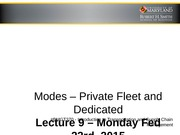 Modes_Private Fleet and Dedicated