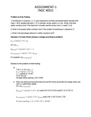 Risk pooling and centroid methods for Test I