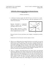 Macro Midterm  Study Guide Answers etc Spring 2016