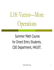 19.More on Vectors