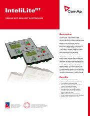 Comap Mrs4 Pdf Nt Intelilite Single Set Gen Set Controller