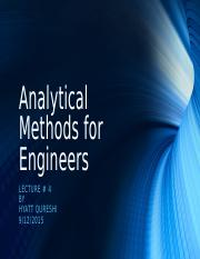 Lecture 4 - Analytical Methods for Engineers.odp