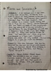 sense and sensibility ch 1-11 notes