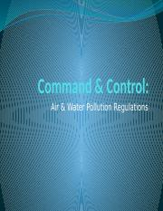 Command and Control-Air and Water- A