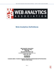 Web Analytics Definitions 2008