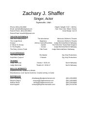 61212385221 - Theater Resume