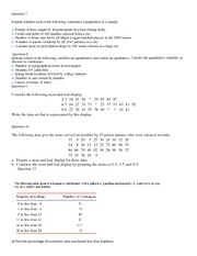 population vs sample worksheet question 7 explain whether each of the following constitutes a. Black Bedroom Furniture Sets. Home Design Ideas