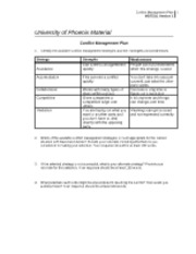 mgt 311 conflict management plan View essay - mgt 311 - team strategy & conflict management plan from mgt/311 311 at university of phoenix their performance worsen over time similarly, groups that begin with a positive social.