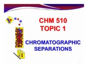C1 - Chromatography separation