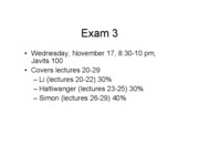 Review Lectures 23-25