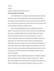 Afterlife Essay