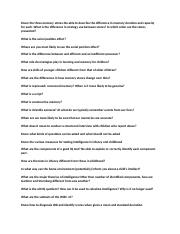 child development study guide questions