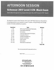 CFA 2017 - Mock Exam - Afternoon Session