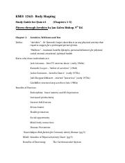 KNES 1263 quiz #1 study guide.doc