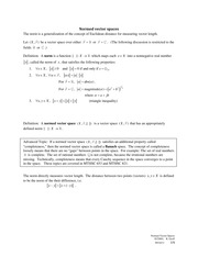 2011-09-16 Normed Vector Spaces