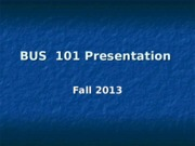 Presentation guideline -- Fall 2013