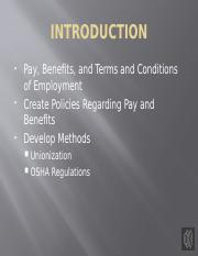 Assignment 3 - Pay Benefits and Terms and Conditions of Employment.pptx